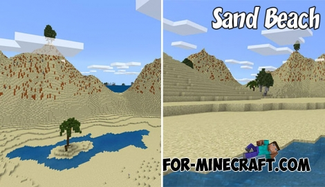 Sand Beach map for Minecraft BE 1.4+