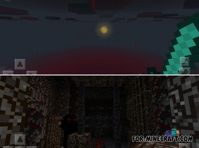 Blood Forest PE texture pack for Minecraft BE 1 2+
