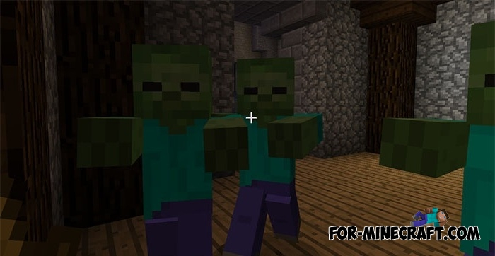 Zombies 6 map for Minecraft PE 1.6+
