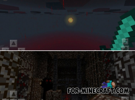 Blood Forest PE texture pack for Minecraft BE 1.2+