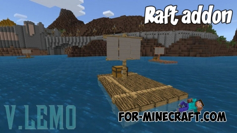 Raft addon for Minecraft Bedrock Edition 1.2+