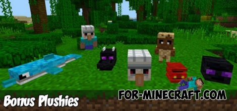 Bonus Plushies addon for Minecraft PE 1.6+