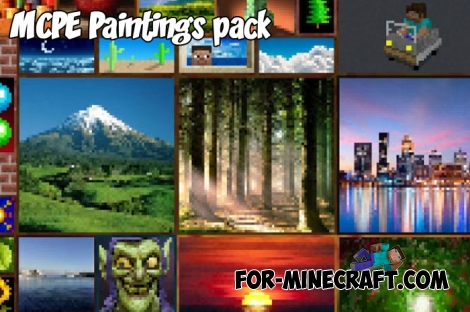 New MCPE Paintings pack