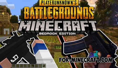 PUBG Craft PE addon for Minecraft BE 1.6+