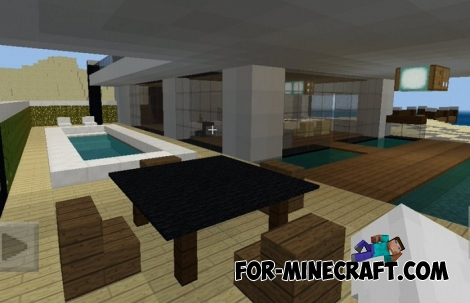 House on the Beach map for MCPE 1.X