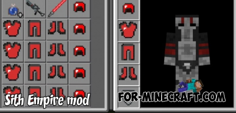 Sith Empire mod for Minecraft PE 1.4+