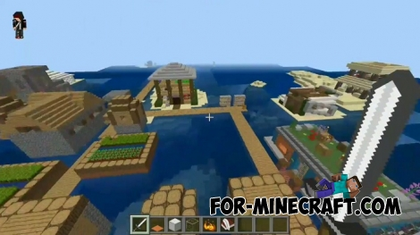 Oceanic Small Village map for Minecraft PE 1.4+