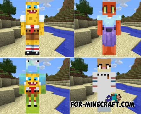 SpongeBob skin pack for MCPE