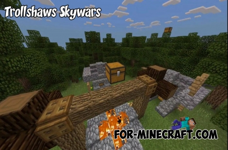 Trollshaws Skywars map for MCPE 1.2/1.6+