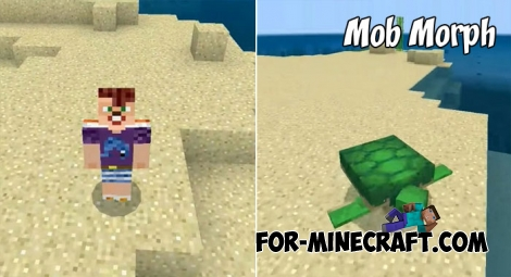 Mob Morph addon for MCBE 1.2/1.6+
