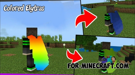 Colored Elytras for Minecraft PE 1.X