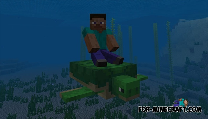 Tameable Turtles addon for MCPE 1 5/1 7