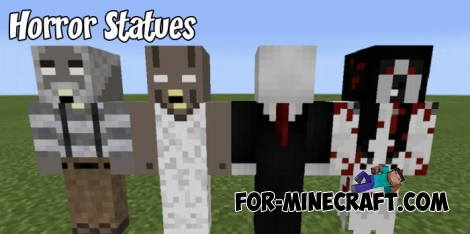Horror Statues pack for Minecraft PE 1.5/1.6