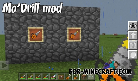 Mo'Drill mod for Minecraft Bedrock Edition