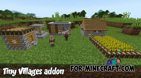 Tiny Villages addon for Minecraft PE 1.4/1.6+