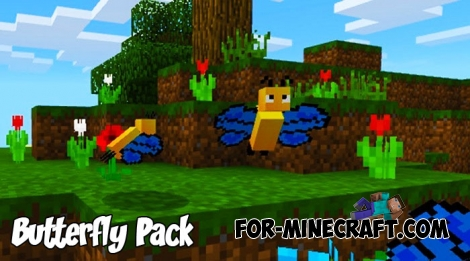 Butterfly Pack for Minecraft PE 1.2/1.6