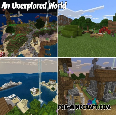 An Unexplored World map for Minecraft PE