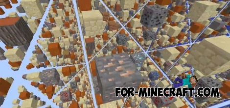 Advanced SkyGrid map for Minecraft PE 1.5