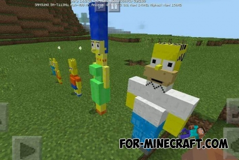 The Simpsons v1 for Minecraft Bedrock Edition 1.5/1.6