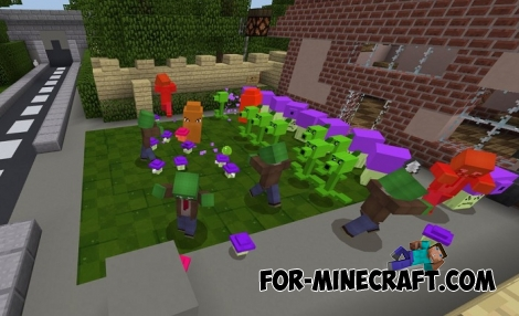 Plants vs Zombies 2 addon for Minecraft BE