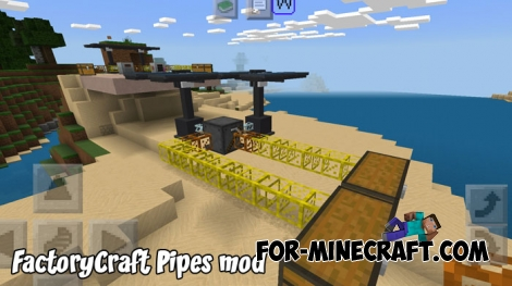 FactoryCraft Pipes mod for Minecraft PE