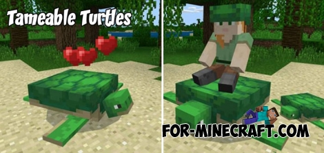 Tameable Turtles addon for MCPE 1.5/1.7