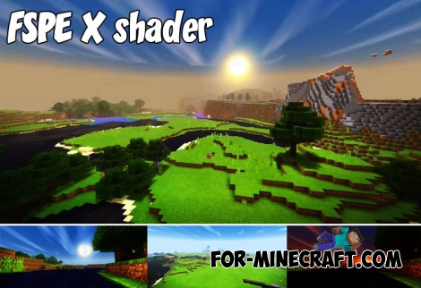 FSPE X shader for Minecraft BE 1.5/1.7+
