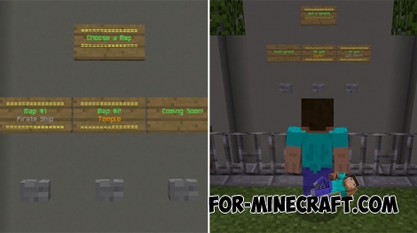 Hide and Seek map for MCPE 1.7