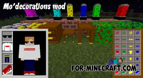 Mo'decorations mod v1.2 for Minecraft PE