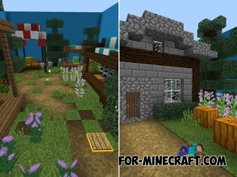 Medieval Find The Button map for Minecraft PE 1.7