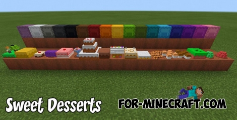 Sweet Desserts addon for MCPE 1.6/1.7