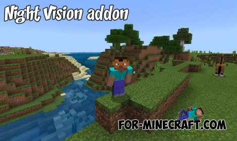 Night Vision addon for Minecraft Bedrock Edition