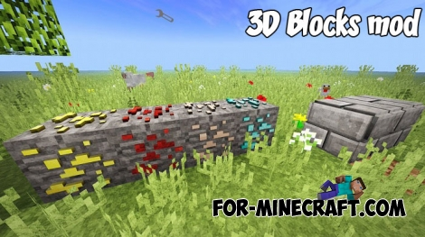 3D Blocks mod for Minecraft PE 1.2/1.6