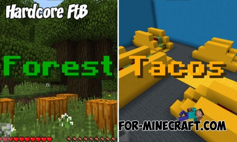 Hardcore FtB map for Minecraft PE 1.7+