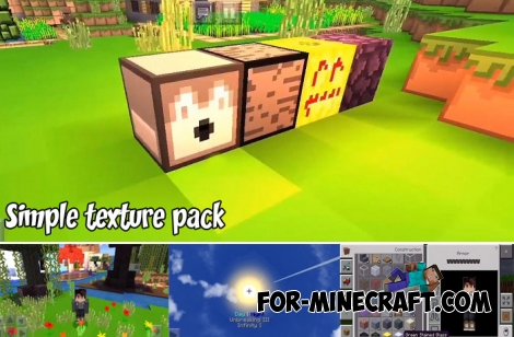 Simple texture pack for MCPE 1.6/1.7