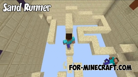 Sand Runner map for Minecraft PE 1.6/1.7