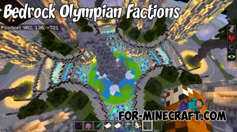 Minecraft Bedrock Olympian Factions map
