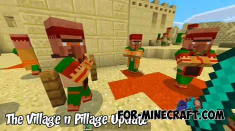 The Village & Pillage Update map for MCPE 1.7