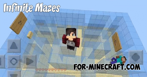 Infinite Mazes map for MCPE 1.7