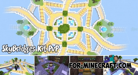 SkyBridges Kit PvP map for Minecraft BE 1.6/1.7