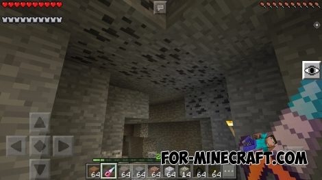Vein Miner mod for Minecraft PE