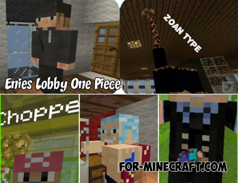 Enies Lobby One Piece map for Minecraft BE 1.7/1.8