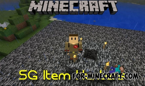 Item Hunters map for Minecraft BE 1.8