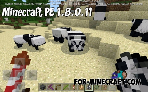 Minecraft PE 1.8.0.11 - Updated pandas