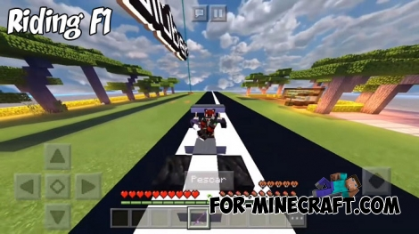 Riding F1 for Minecraft BE 1.7/1.8