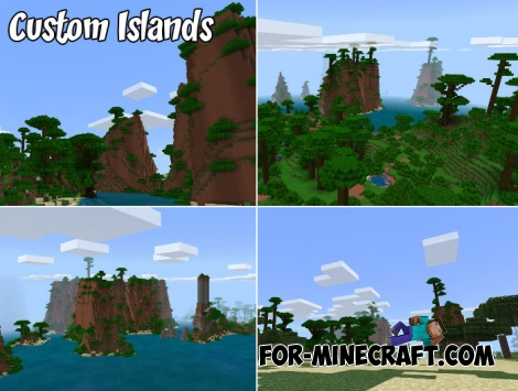 Custom Islands map for Minecraft 1.X
