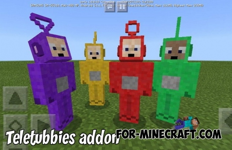 Teletubbies addon for Minecraft 1.8+