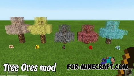 Tree Ores mod for Minecraft PE