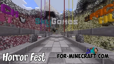 Horror Fest map for Minecraft BE 1.8