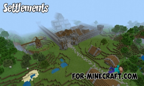 Settlements map for Minecraft PE